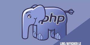 PHP : lire/afficher le contenu d'un fichier xml